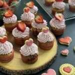 Cupcake con fragole e cioccolato bianco